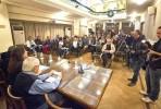 Zoe Konstantopoulou na sessão de apresentação do trabalho da comissão para a verdade da dívida grega