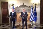 Alexis Tsipras e Donald Tusk em Atenas.