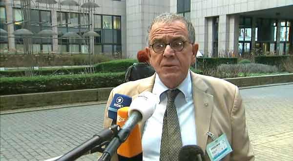 Yiannis Mouzalas, ministro grago responsável pelas Migrações à entrada da imeira europeia. Foto União Europeia ©