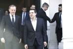 Donald Tusk e Alexis Tsipras em Atenas