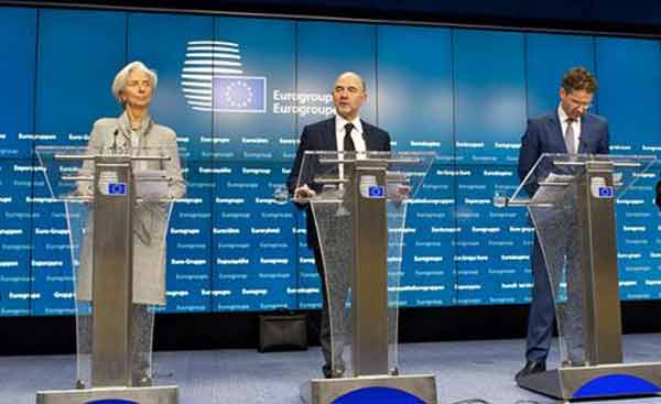 Lagarde, Moscovici e Dijsselbloem. Foto União Europeia ©