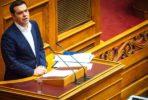 Alexis Tsipras no parlamento. Foto Left.gr