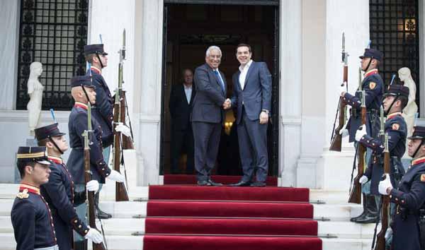 António Costa e Alexis Tsipras em Atenas
