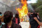 Incidentes no centro de detenção de Moria, Lesbos.