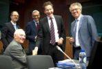 Schäuble e Dijsselbloem no Eurogrupo de 24 de maio.