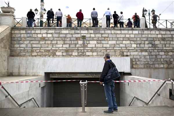 Greve na Grécia de sexta a domingo.