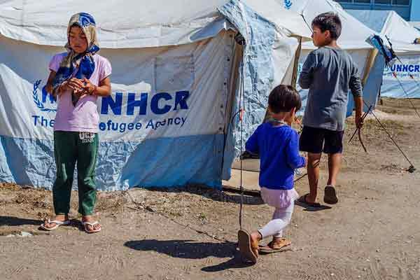 Campo de refugiados na Grécia. Foto Angelos Kalodoukas/Left.gr