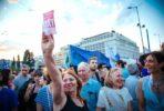 Manifestação pelo OXI em julho de 2015. Foto Left.gr
