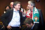 Tsakalotos e Centeno no Eurogrupo. Foto União Europeia ©