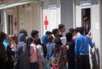 Campo de refugiados de Elaionas. Foto Federação Internacional da Cruz Vermelha e Crescente Vermelho.
