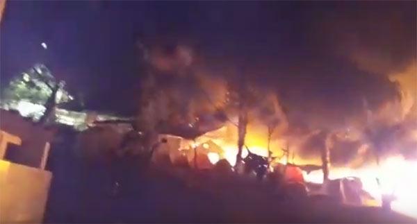 Incêndio no campo de refugiados de Moria