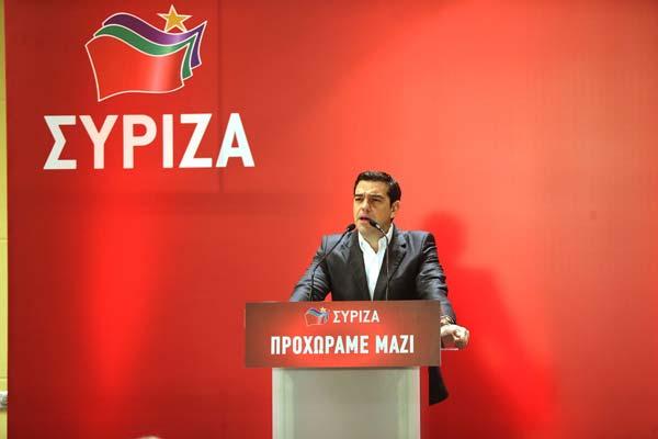 Alexis Tsipras discursa à direção do Syriza.