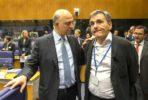 Comissário Pierre Moscovici e Euclid Tsakalotos. Foo União Europeia ©